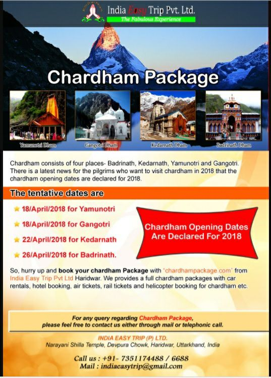 Chardham Yatra 2018 Opening Dates