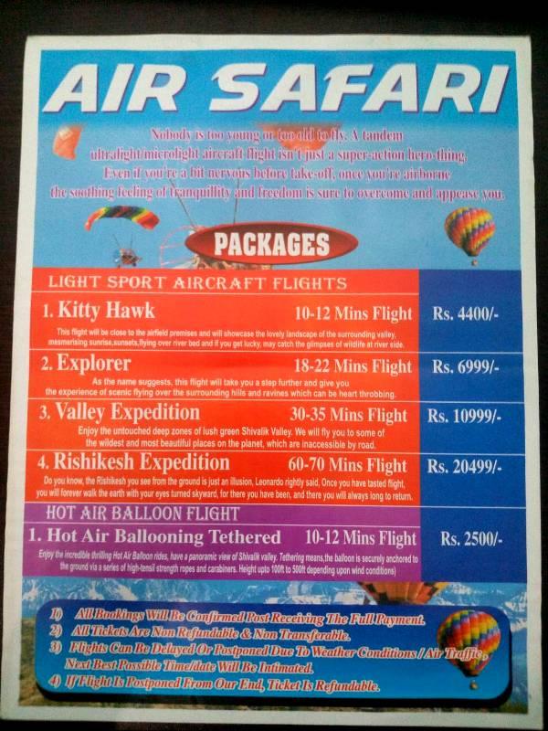 Hot Air Balloon and Air Safari