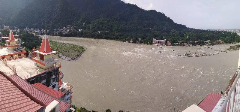 Ganga River in Monsoon Season